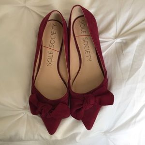 Sole Society Bow Flats Size 7